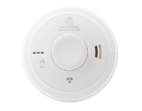 Wired Heat and CO Alarm AICO Product Image transparent